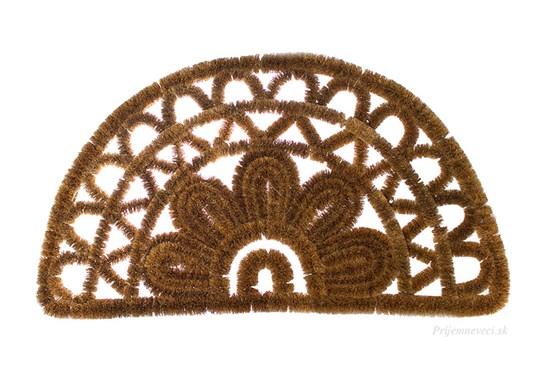 Kokosová rohožka - polkruhová s ornamentom