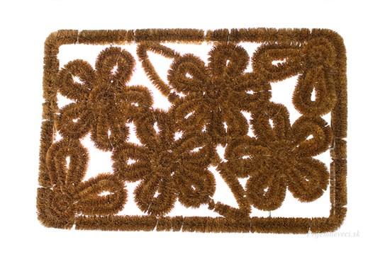 Kokosová rohožka - s motívom kvetov