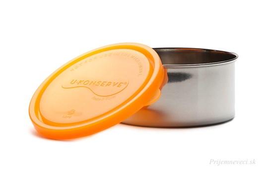 Dóza s oranžovým vrchnákom -470 ml