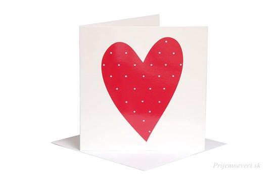 Blahoželanie - červené srdce