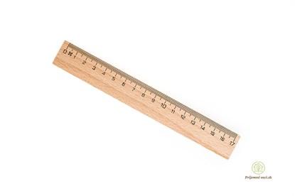 Obrázok pre výrobcu Drevené pravítko 17cm