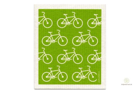 Hubka - zelené bicykle