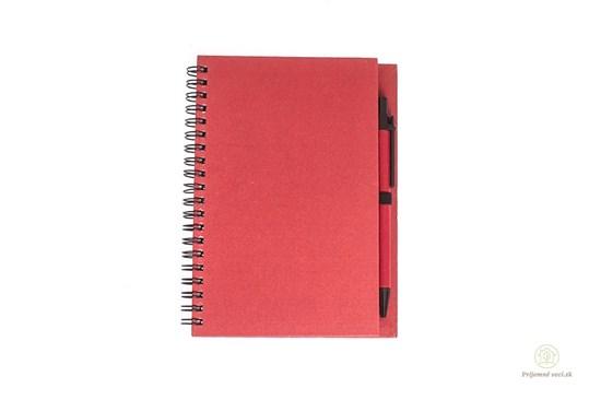 Zápisník s perom - červený