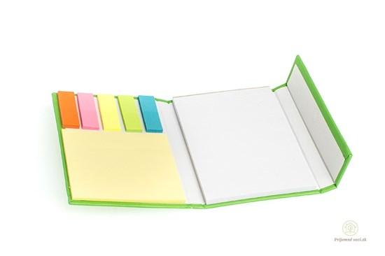 Zápisník s lepkami - zelený