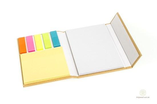 Zápisník s lepkami - hnedý
