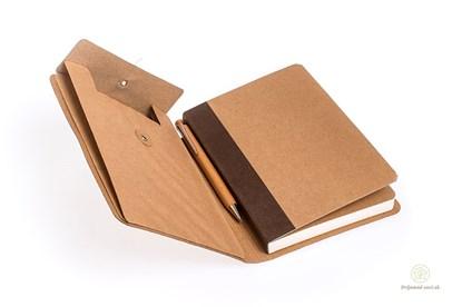 Obrázok pre výrobcu Linajkový zápisník A5 s vreckom