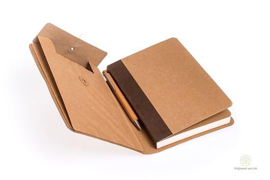 Linajkový zápisník A5 s vreckom