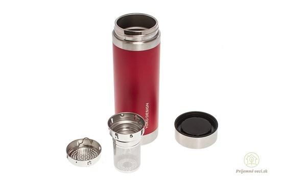 Termoplechovka YD na čaj 350ml červená