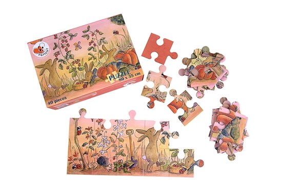 Maxi puzzle v kufríku - záhrada