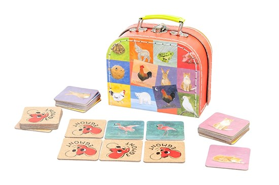 Hra pexeso - protiklady v kufríku