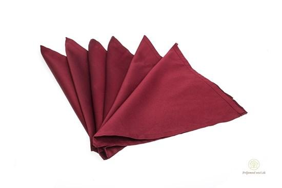 Saténové vreckovky z biobavlny dámske - červené-6ks
