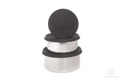 Obrázok pre výrobcu MS- tri nerezové dózy -čierne