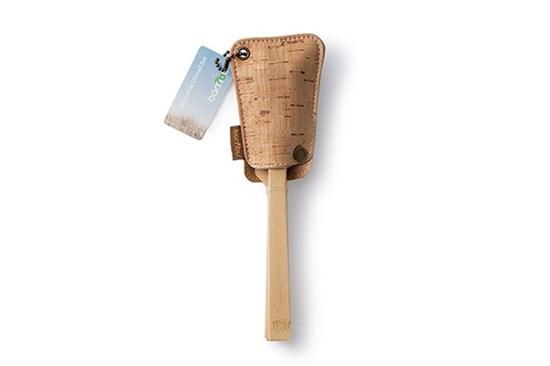 Bambusový príbor s korkovým obalom