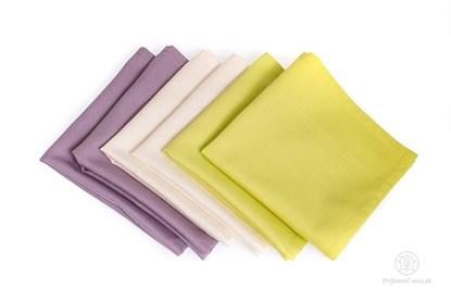 Obrázok pre výrobcu Saténové vreckovky z biobavlny - mix orgován-6ks