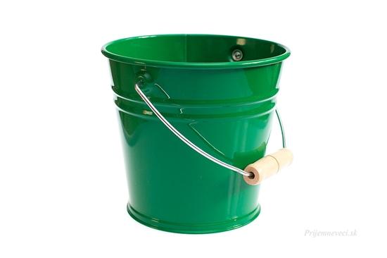 Detské kovové vedierko - zelené