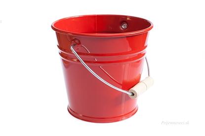 Obrázok pre výrobcu Detské kovové vedierko - červené