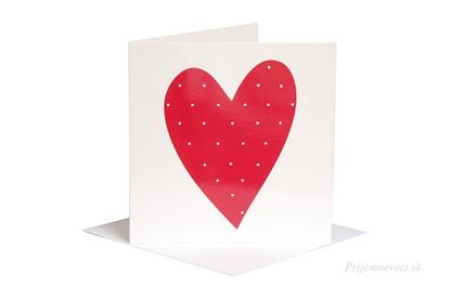 Obrázok pre výrobcu Blahoželanie - červené srdce