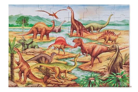 Podlahové puzzle - dinosaury