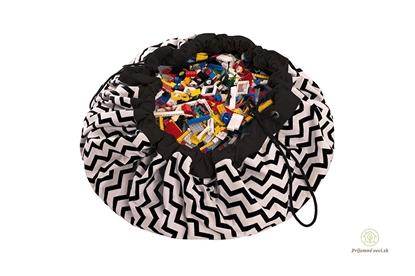 Obrázok pre výrobcu Vak na hranie-Play and go - čierny-cik-cak