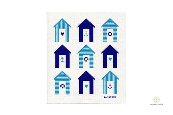 Hubka - modré domčeky