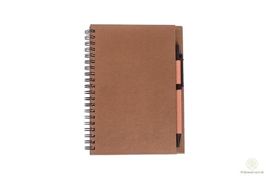 Zápisník s perom - hnedý