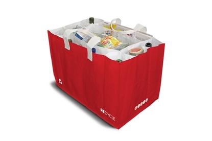 Obrázok pre výrobcu Taška na triedenie odpadu- červená Sakatri