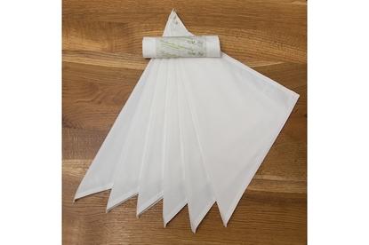 Obrázok pre výrobcu  Saténové vreckovky z biobavlny dámske- biele-6ks