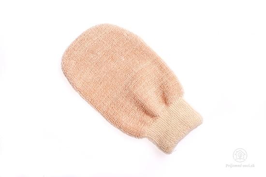 Masážna rukavica s medeným vláknom