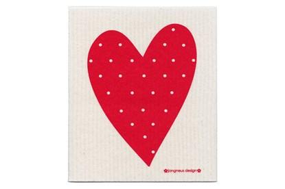 Obrázok pre výrobcu Hubka - srdce červené