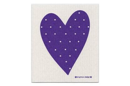 Obrázok pre výrobcu Hubka - srdce fialové