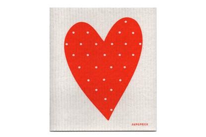 Obrázok pre výrobcu Hubka - srdce oranžové