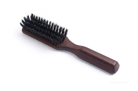 Kefa na vlasy z termodreva s diviačími štetinami - 5-radová