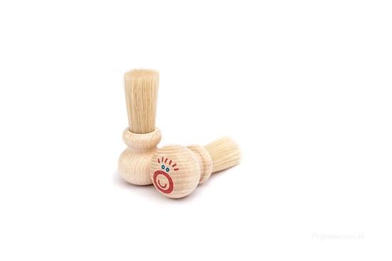 Detský drevený štetec do dlane