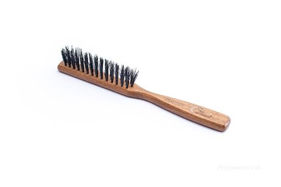 Buková kefa na vlasy s diviačími štetinami - 3-radová