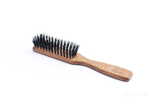 Buková kefa na vlasy s diviačími štetinami - 5-radová