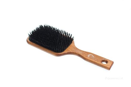 Buková pneu kefa na vlasy s diviačími štetinami - 13-radová