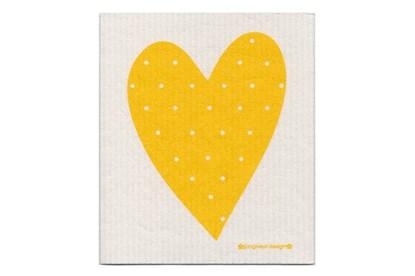 Obrázok pre výrobcu Hubka - srdce žlté