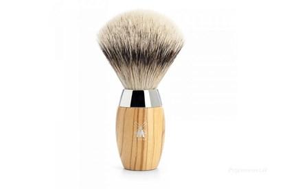 Obrázok pre výrobcu Štetka na holenie KOSMO - olivové drevo  a strieborný jazvec