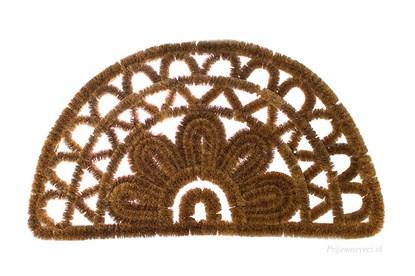 Obrázok pre výrobcu Kokosová rohožka - polkruhová s ornamentom