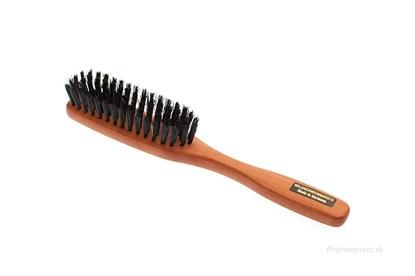 Obrázok pre výrobcu Hrušková kefa na vlasy s diviačími štetinami - 5-radová