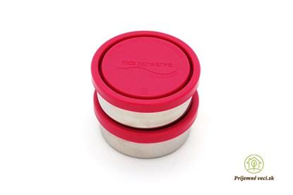 Obrázok pre výrobcu Sada 2 okrúhlych nerezových dóz - magenta
