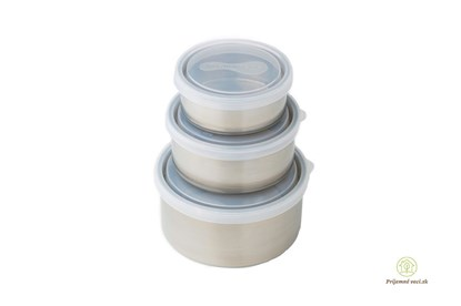 Obrázok pre výrobcu Sada 3  okrúhlych dóz - ľad