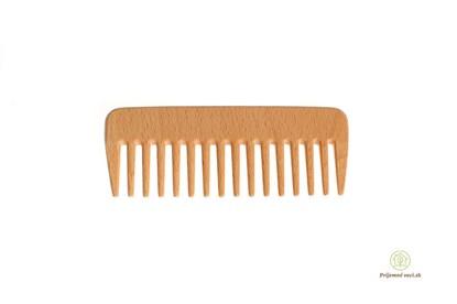Obrázok pre výrobcu Drevený širokozubý hrebeň bez rúčky