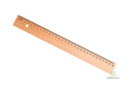 Obrázok pre výrobcu Drevené pravítko 30cm