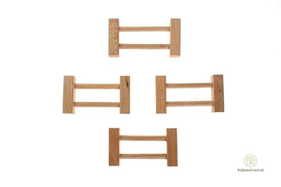 Drevená stavebnica Archa krátky plot - 4ks