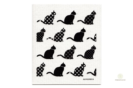 Hubka - mačky čierne