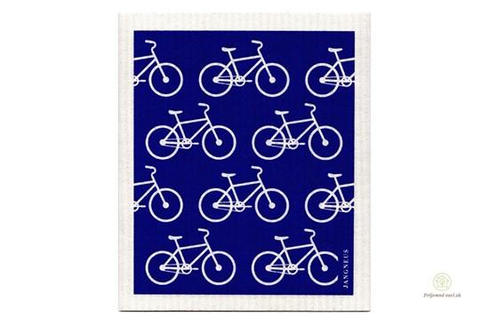Hubka - modré bicykle