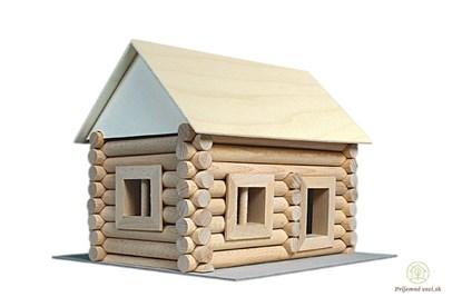 Obrázok pre výrobcu Walachia Vario - drevená stavebnica - domček (72ks)