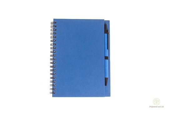 Zápisník s perom - modrý