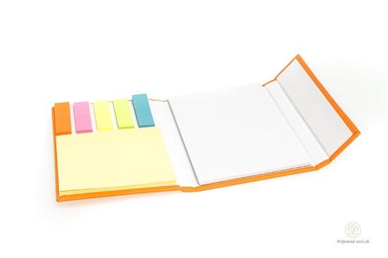 Zápisník s lepkami - oranžový